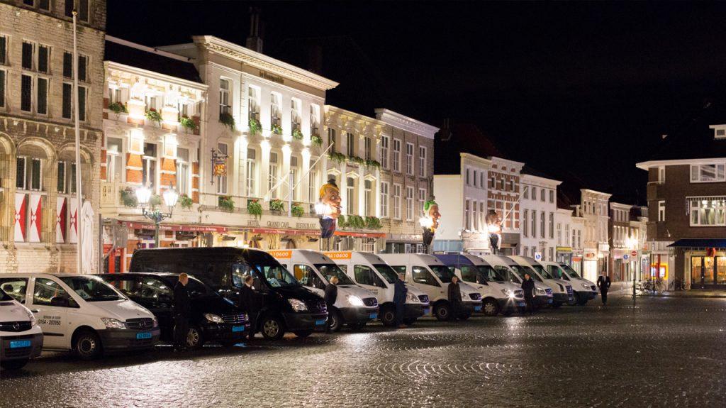 Opstelling Voertuigen Taxi Geers in Bergen op Zoom